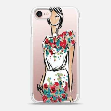 Elie Saab Fashion Sketch, Phone case illustration by Angie Ordonez - Thexostudio_