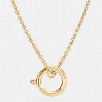 Coach Charm Hoop Necklace - Spring