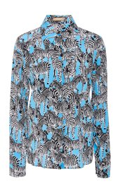 Michael Kors Zebra-Print Silk Crepe De Chine Shirt, Moda Operandi