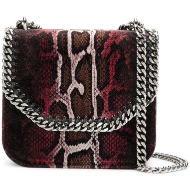 Stella M. Faux Snakeskin Bag