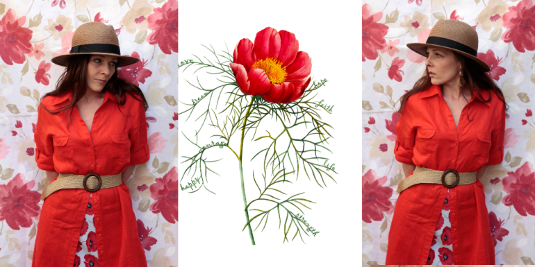 Collage peonie 2